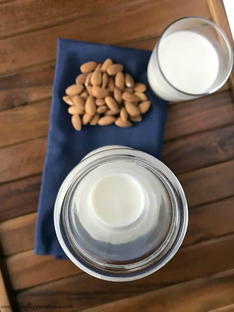 A smooth and sweet easy to make almond milk with no refined sugar.