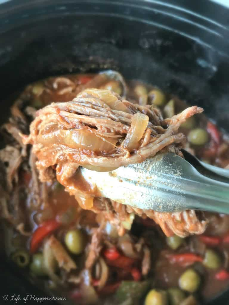 This ropa vieja is comforting and flavorful! It will simmer in your crock pot all day and leave your home smelling amazing! SCD, Paleo and Whole 30 compliant. Gluten free, grain free and dairy free.