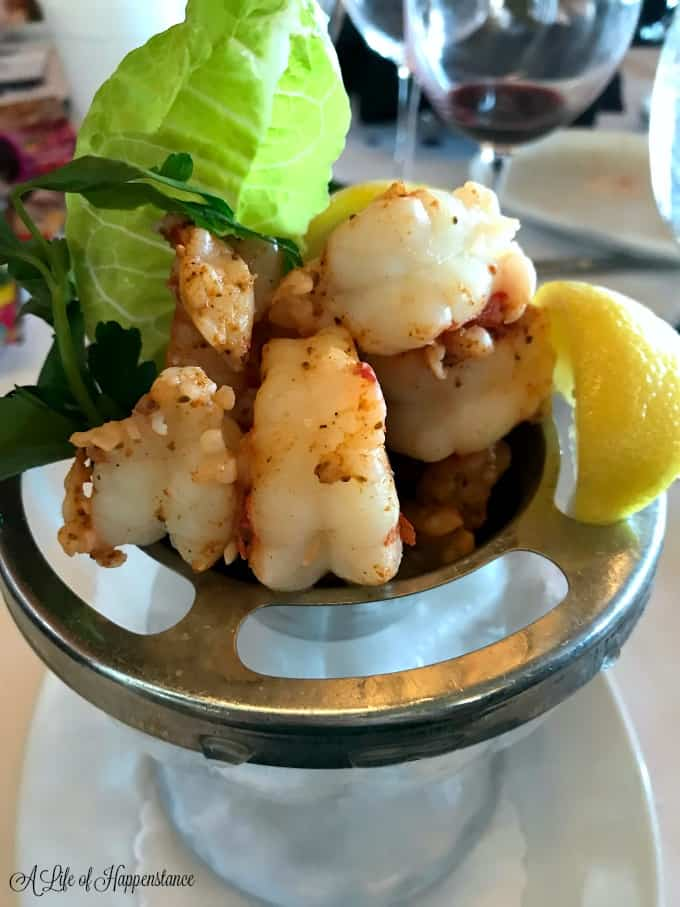 A tower of shrimp from Ocean Prime.