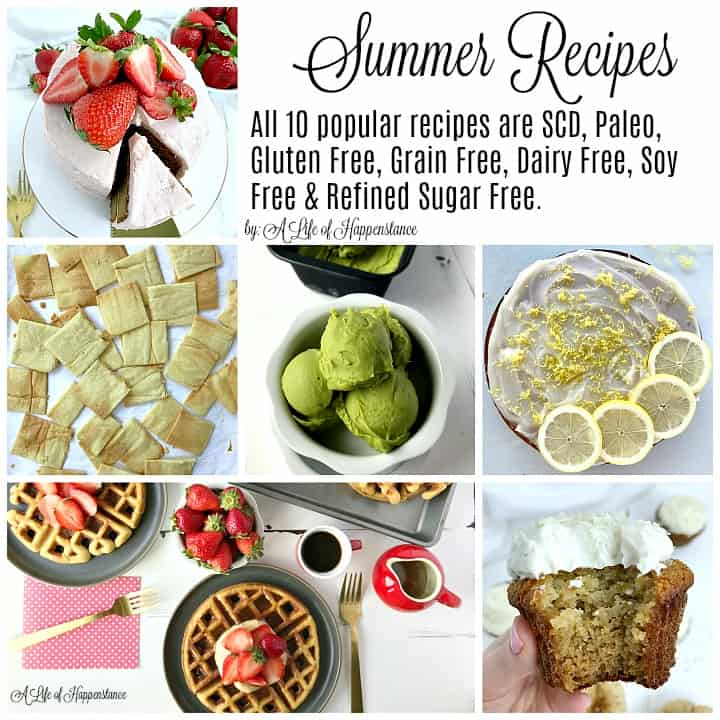 These popular summer recipes are a perfect way to enjoy the fresh flavors of the season. All recipes are also Paleo, gluten free, grain free, dairy free, soy free, and refined sugar free.