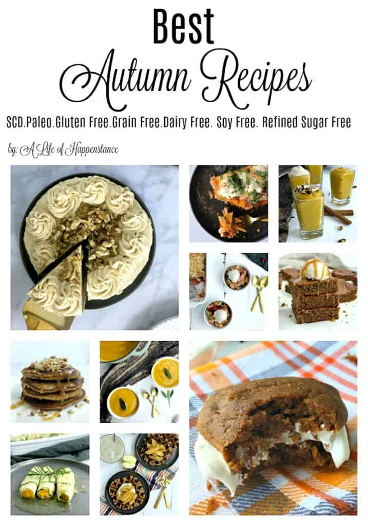 These Autumn recipes all evoke the wonderful feel and taste of the season. They're easy, healthy recipes perfect for those chilly fall days and nights! Every recipe follows the SCD diet and is gluten free, grain free, soy free, refined sugar free, and low lactose. Many are also Paleo and Whole30.