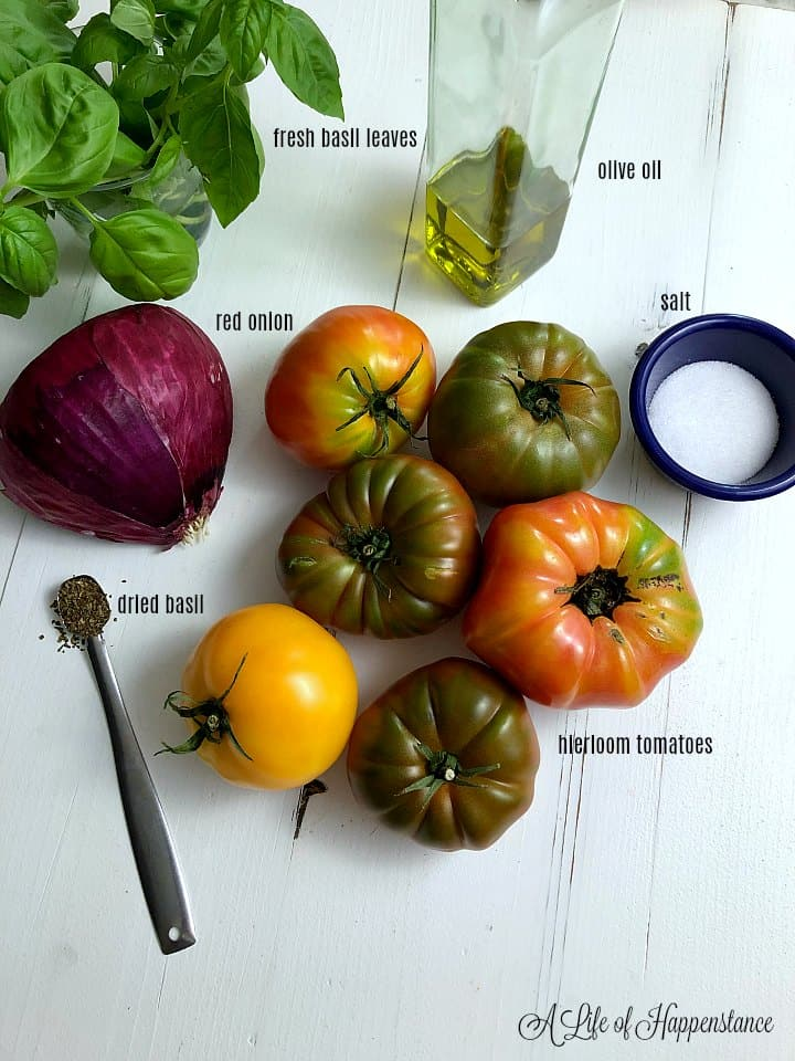 Ingredients for the healthy summer salad on a white table.